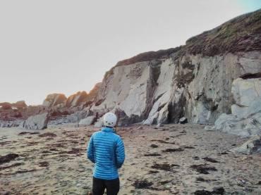 Paul checks our the climb